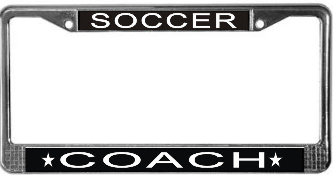 Primary image for Soccer Coach License Plate Frame (Stainless Steel)