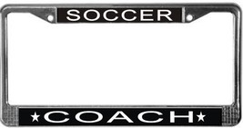 Soccer Coach License Plate Frame (Stainless Steel) - $13.99