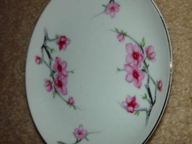 Diamond China Cherry Blossom Japan Bread Side Plate