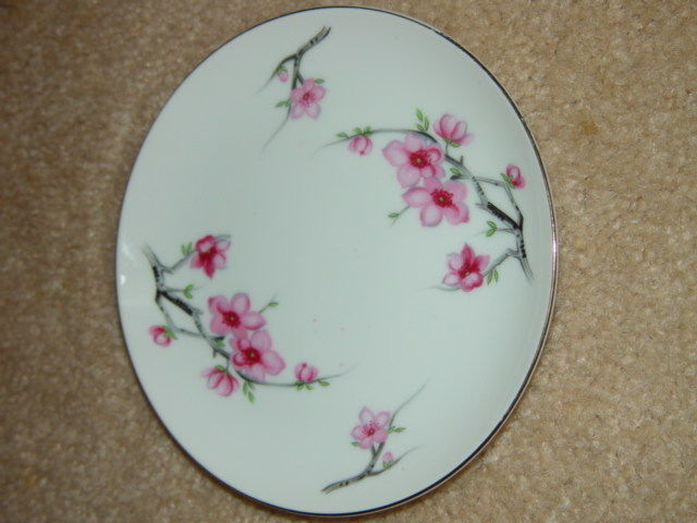 Diamond China Cherry Blossom Japan Bread Side Plate image 6