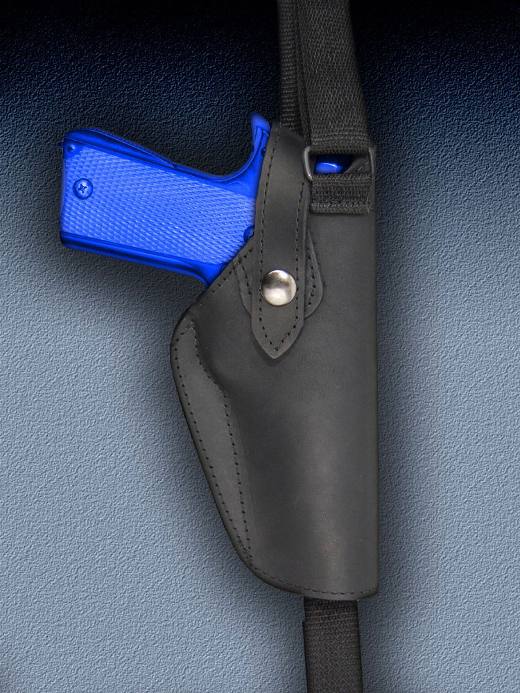 Barsony Black Leather Vertical Shoulder Holster for SPRINGFIELD XD, T-XD, XD-M