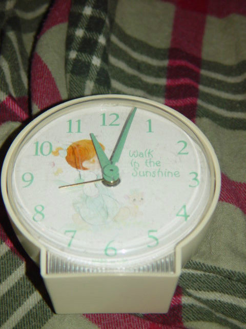Precious Moments Alarm Clock (Walk in The Sunshine) Clock Do Not Work Alarm Dose image 4