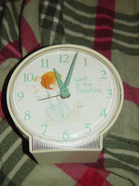 Precious Moments Alarm Clock (Walk in The Sunshine) Clock Do Not Work Alarm Dose image 5