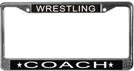 Wrestling Coach License Plate Frame (Stainless Steel) - $13.99