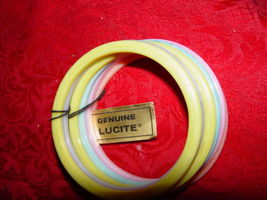 Genuine Lucite Braclets Set of 6 Braclets Made of Dupont Lucite Acrylic Resin image 6