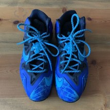 Nike Custom LeBron James Basketball Shoes, Size 12, Blue - $89.99