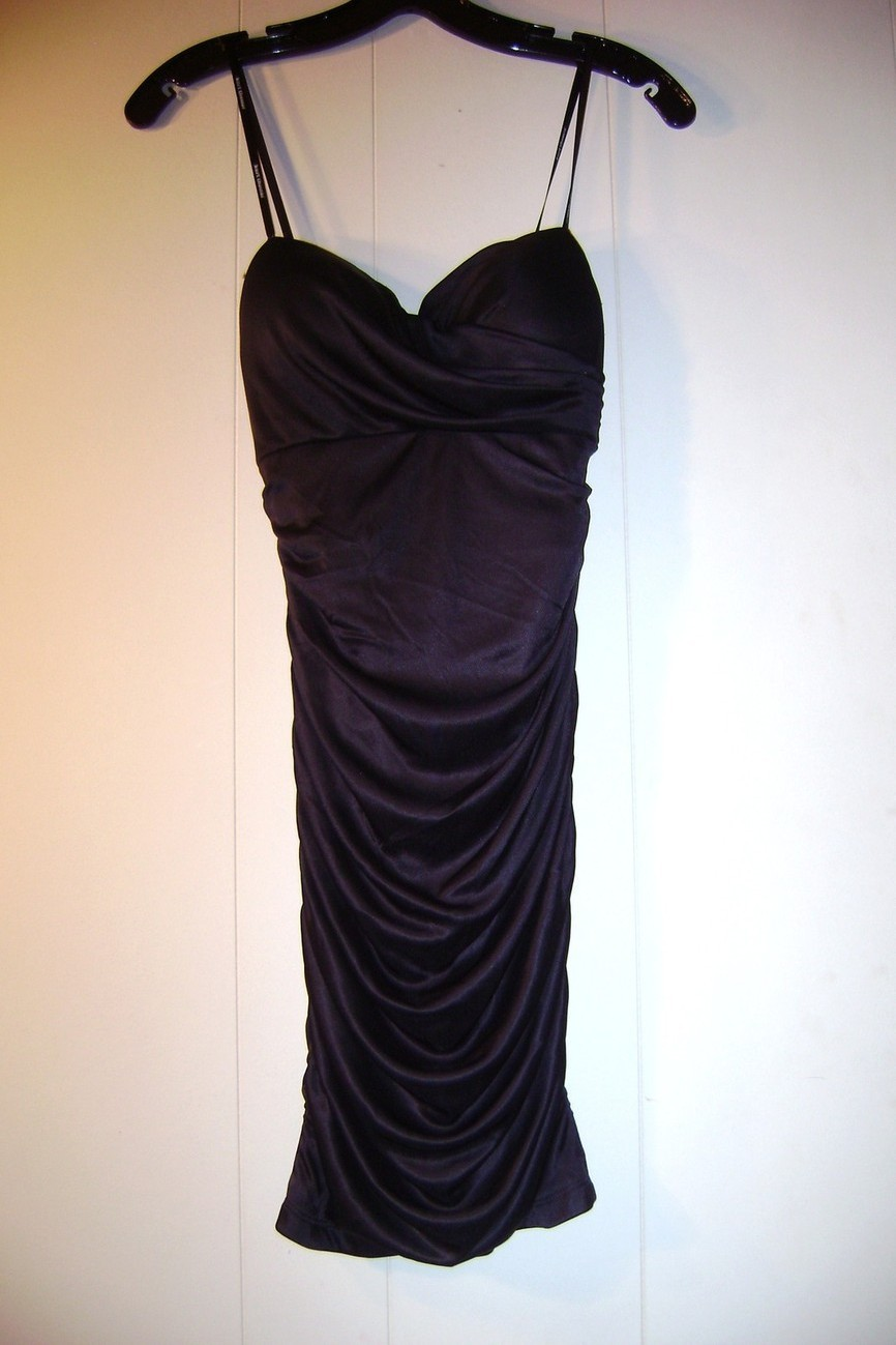 Kurt Thomas black rouched strapless cocktail dress Size O