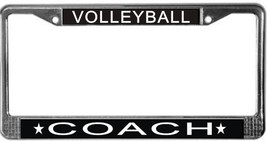 Volleyball Coach License Plate Frame (Stainless Steel) - $13.99