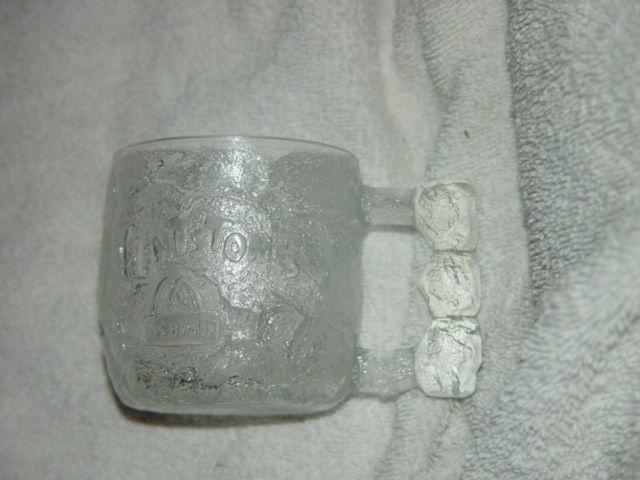 "1993 McDonald's The Flintstones Rocky Road Glass Mug 3 1/4""Tall image 3"