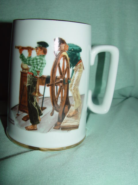1985  The Norman Rockwell Museum,Inc River Pilot Mug/Cup