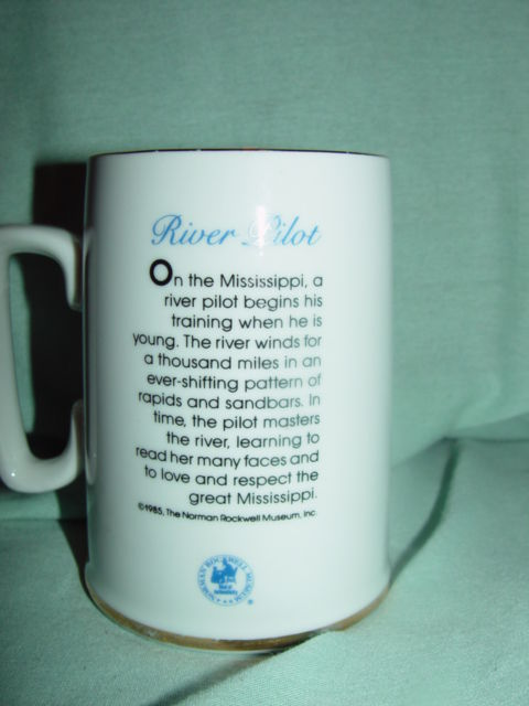 1985  The Norman Rockwell Museum,Inc River Pilot Mug/Cup image 2