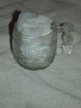 "1993 McDonald's The Flintstones Rocky Road Glass Mug 3 1/4""Tall image 1"