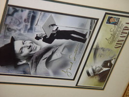 Frank Sinatra Autograph Frame Picture W/ Postcard and Stamp image 4