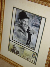 Frank Sinatra Autograph Frame Picture W/ Postcard and Stamp image 2