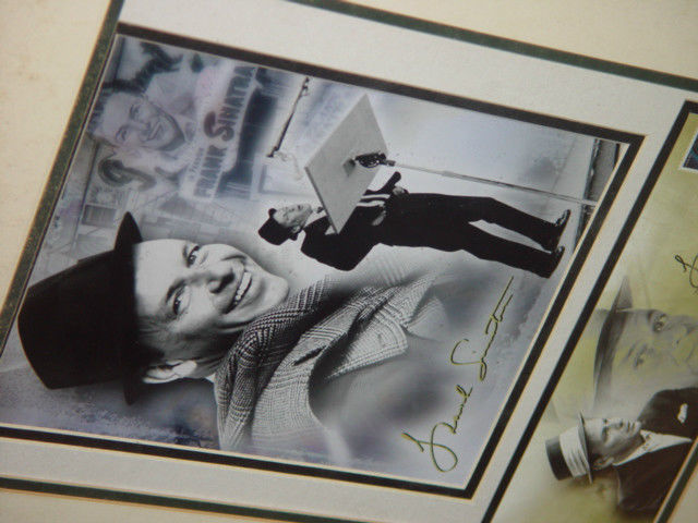 Frank Sinatra Autograph Frame Picture W/ Postcard and Stamp image 3