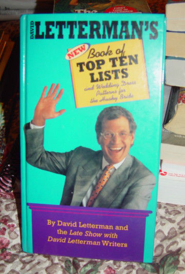 David Letterman & The Late Show Book of Top Ten List & Wedding Dress Patterns