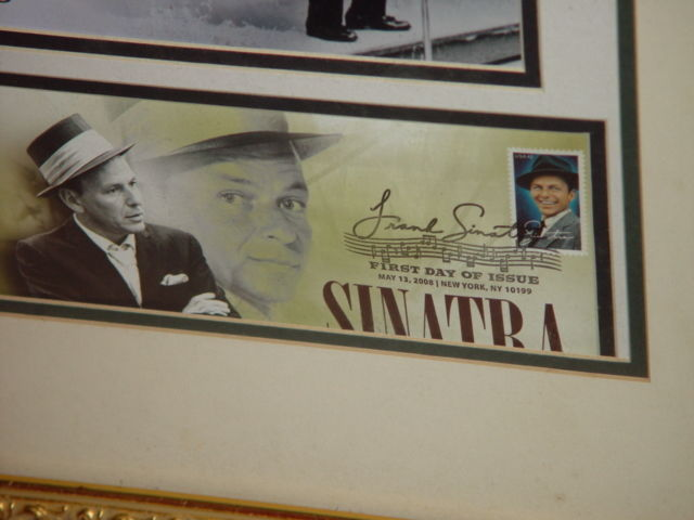 Frank Sinatra Autograph Frame Picture W/ Postcard and Stamp image 6