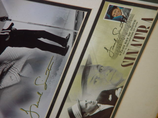 Frank Sinatra Autograph Frame Picture W/ Postcard and Stamp image 7