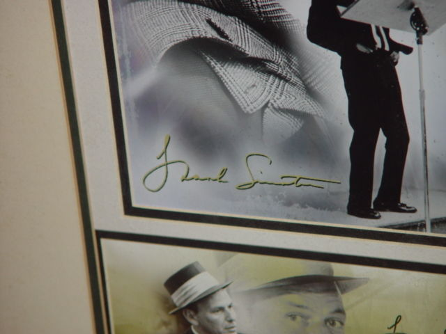 Frank Sinatra Autograph Frame Picture W/ Postcard and Stamp image 8