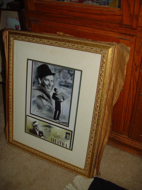 Frank Sinatra Autograph Frame Picture W/ Postcard and Stamp image 9