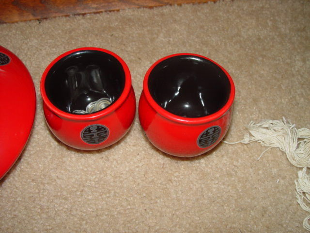 Japanese Chinese Oriental Asian Teapot and Teacups Set image 4