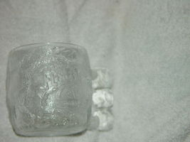 "1993 McDonald's The Flintstones Rocky Road Glass Mug 3 1/4""Tall image 7"