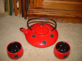 Japanese Chinese Oriental Asian Teapot and Teacups Set image 8