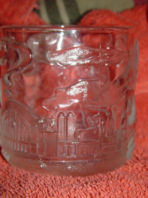 McDonald's Batman Forever Two Face 1995 Glass Cup/Mug