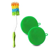 Bottle Brush Cleaner w/Silicone Scrubbing Pads 3 Pc. Set Long Handle, Di... - €12,11 EUR