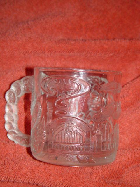 McDonald's Batman Forever Two Face 1995 Glass Cup/Mug image 8