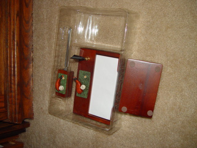 Classic 3 in 1 Golf Desk Set  W/ Letter Opener, Card Holder, & Memo Pad image 2