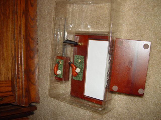 Classic 3 in 1 Golf Desk Set  W/ Letter Opener, Card Holder, & Memo Pad image 6