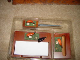 Classic 3 in 1 Golf Desk Set  W/ Letter Opener, Card Holder, & Memo Pad image 7