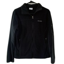 Columbia Fleece Jacket Boys Girls Youth Size Medium 10/12 Black Warm - $21.78