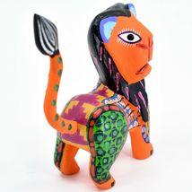 Handmade Alebrijes Oaxacan Copal Wood Carving Folk Art Lion Figurine image 5