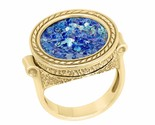 14K Gold Unisex Ancient Roman Glass ring