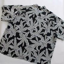 Joe Marlin Mens Shirt Hawaiian Camp Style 2XL Palm Tree Leaves - $19.79