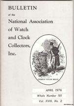 Vintage Clock and Watch Magazine NAWCC April 1976 - $12.80