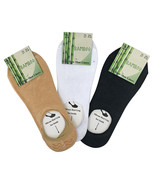 6 Pairs Womens Thin No Show Low Cut Bamboo Shoe Liner Socks in Black Whi... - $11.61