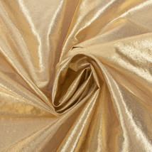 Gold Tissue Lame Fabric BTY  New - $4.99