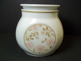 Noritake sugar bowl Younger Image china ANTIGUA 1970s pink flowers brown... - $11.98