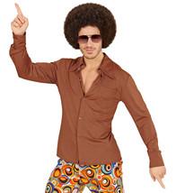 Groovy 70's Man Shirt -brown (xxl) #haa - $30.59