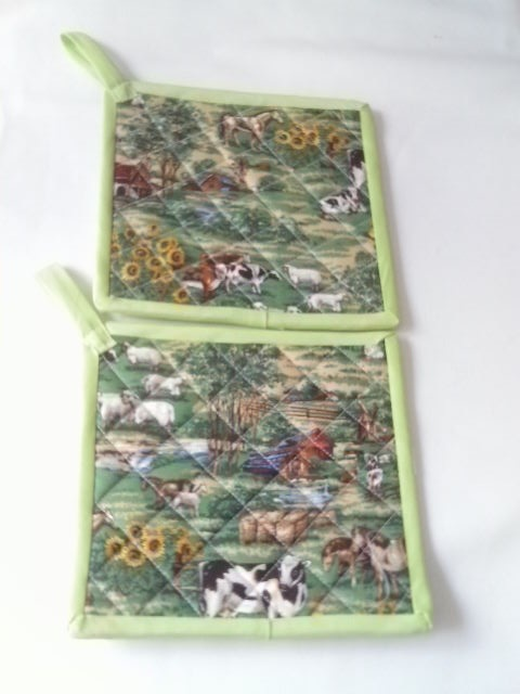 Farmland Quilted Potholders