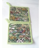 Farmland Quilted Potholders - $6.99