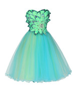 Cocktail dresses Party Short Prom wedding length Turquoise Sweetheart ba... - $100.99