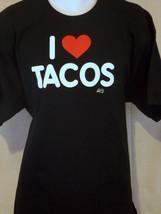 tacos art black  2xL T shirt - $19.79