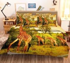 3D Giraffes 026 Bed Pillowcases Quilt Duvet Cover Set Single Queen King Size AU - $64.32+
