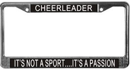 Cheerleader It's Not A Sport...It's A Passion License Plate Frame (Stain... - $13.99