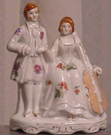 Victorian Couple with Violin Figurine Japan