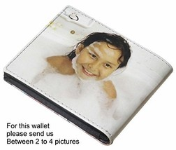Personalized SMALL wallet for men with your own choice of pictures (or a... - $25.00